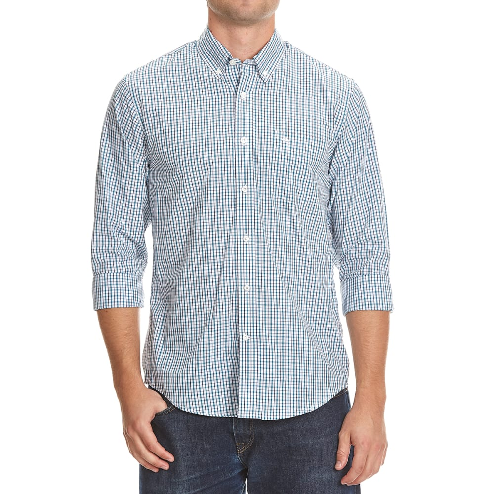 DOCKERS Men's Check Woven Shirt - 8376-DRAGONFLY