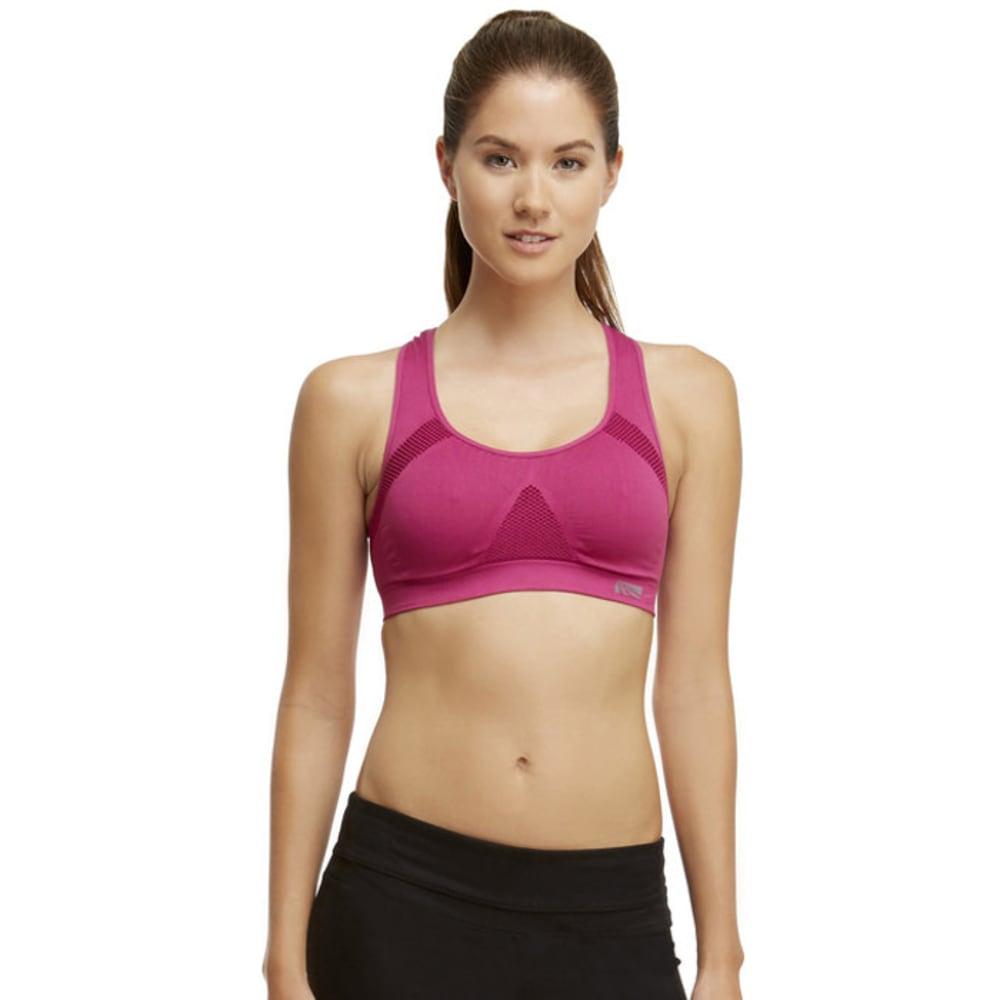 MARIKA Women's Seamless Mesh Sports Bra - PINK SAPPHIRE 21E