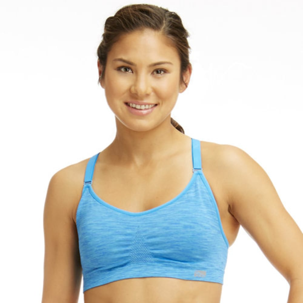 MARIKA Women's Seamless Power Mesh Sports Bra - BLUE CORDYALIS-550