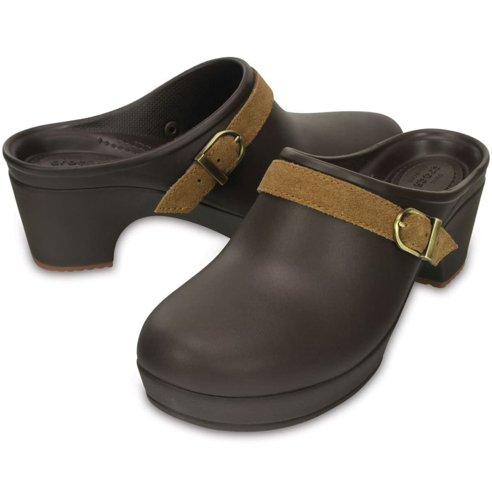 CROCS Women's Sarah Clogs - ESPRESSO