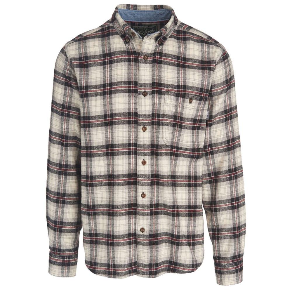 WOOLRICH Men's Trout Run Plaid Flannel Shirt - BPD-BLACK PLAID