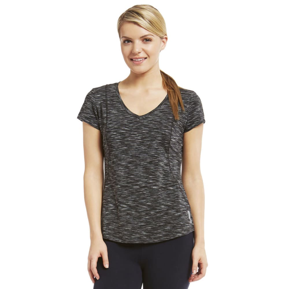 MARIKA Women's Crunch Space-Dye Tee - BLACK-001