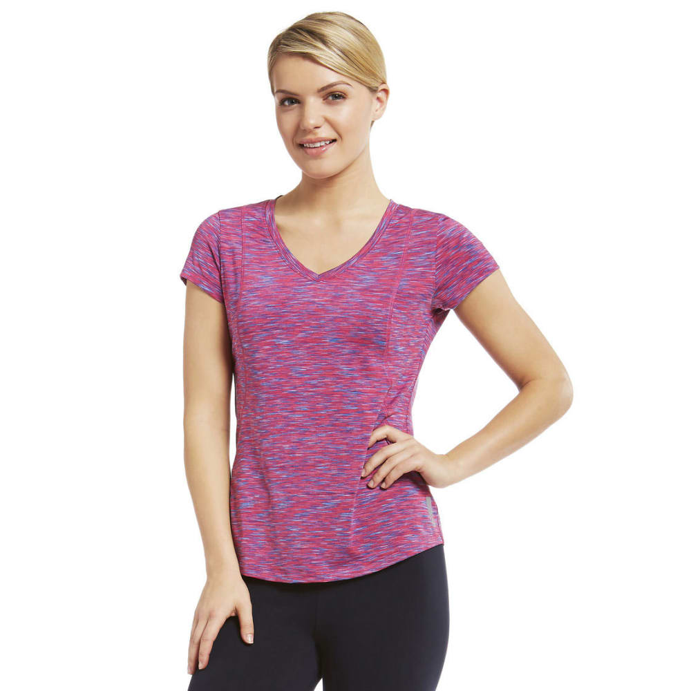 MARIKA Women's Crunch Space-Dye Tee - BEETROOT PRPLE-138