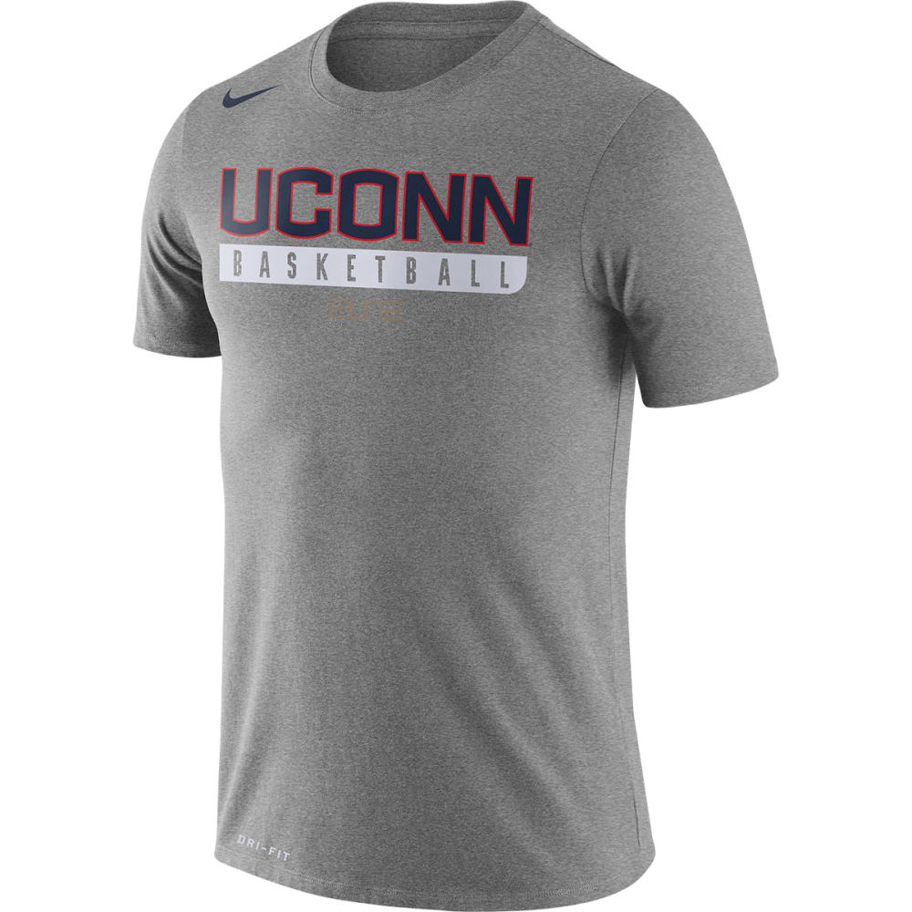 NIKE Men's UConn Basketball Practice Short-Sleeve Tee - GREY HEATHER