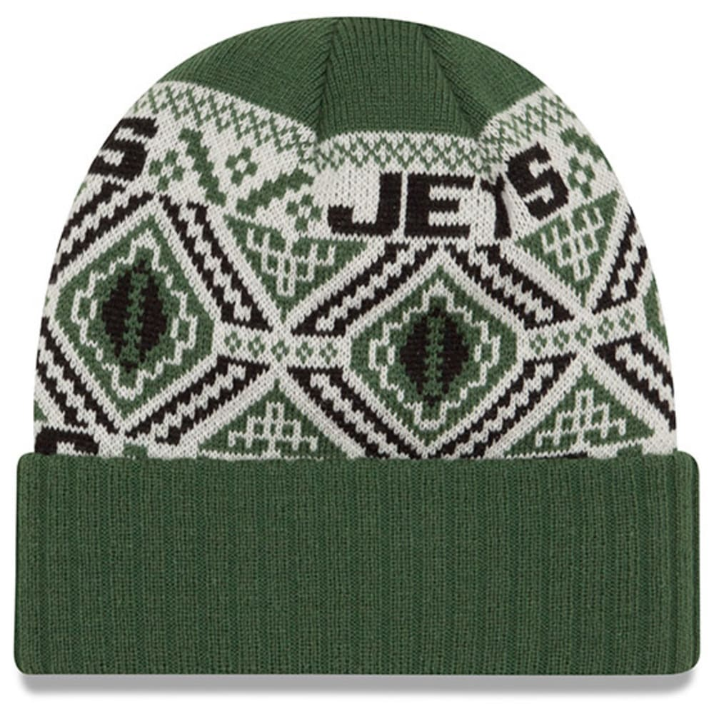 NEW YORK JETS Cozy Cuff Beanie - GREEN/WHITE