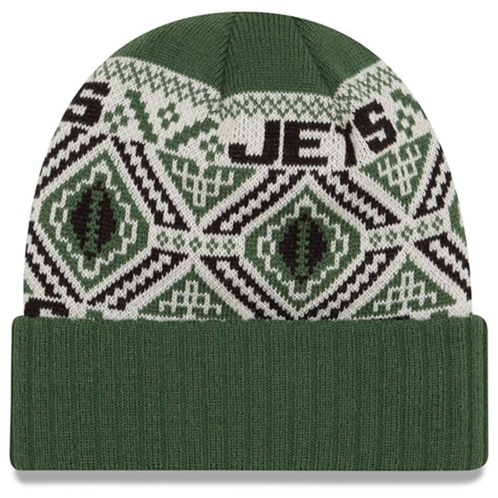 NEW YORK JETS Cozy Cuff Beanie - GREEN/WHITE