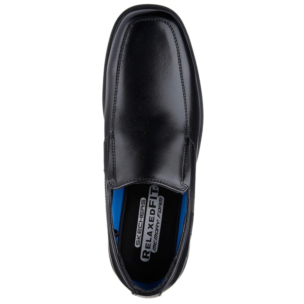 SKECHERS Men's Dress Slip-On Shoes - BLACK