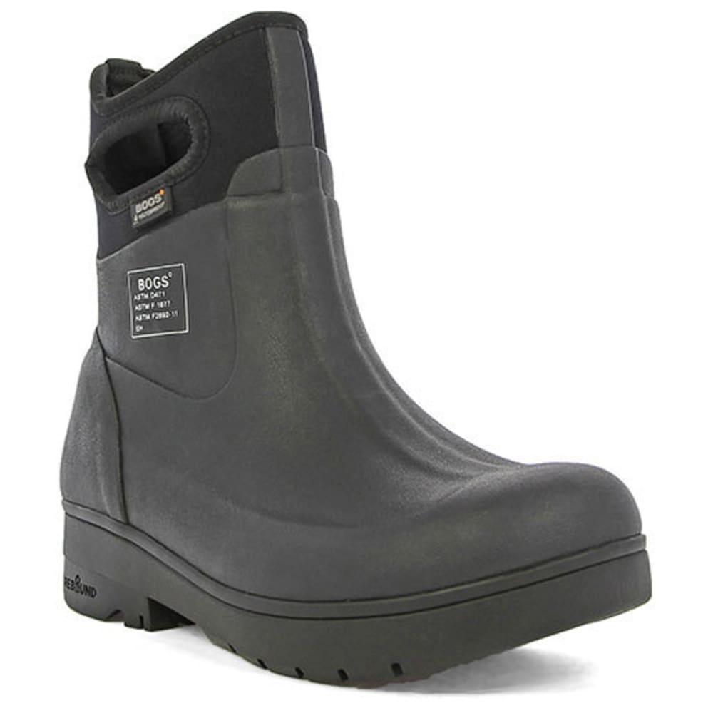 BOGS Men's Turf Stomper Slip-On Work Boots - BLACK