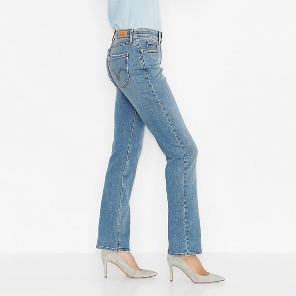 LEVI'S Women's 525 Perfect Waist Straight Jeans, Short Length - 0005-SKY