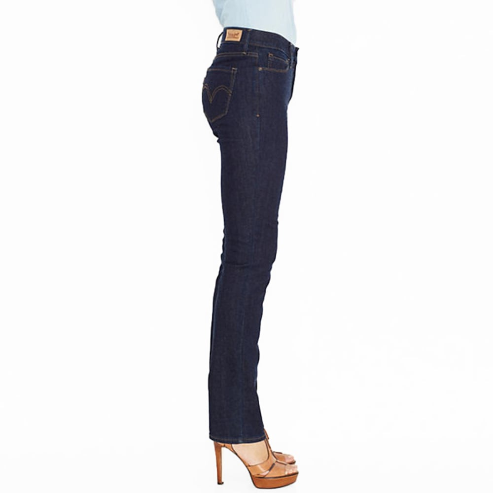 LEVI'S Women's 525 Perfect Waist Straight Jeans, Short Length - 0028-SAPPHIRE