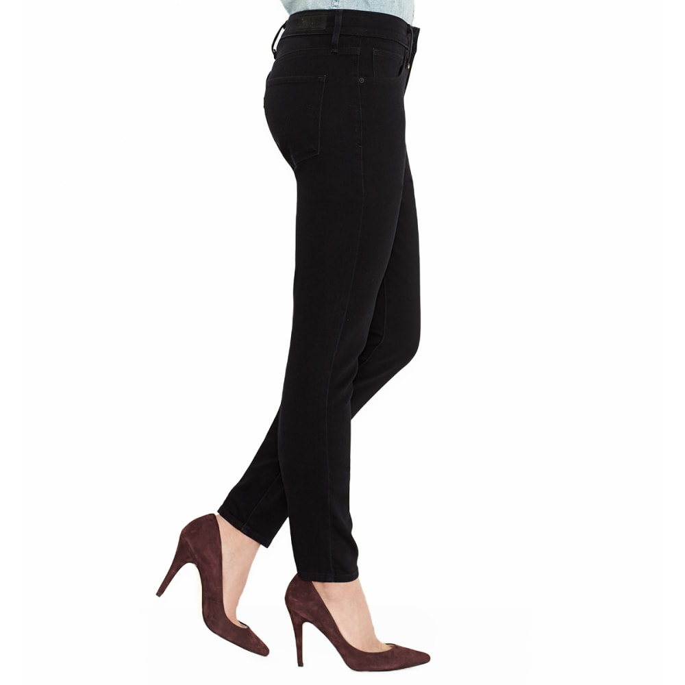 LEVIS Women's Mid Rise Skinny Leg Jeans, Short Length - 0115-BLACK SATEEN