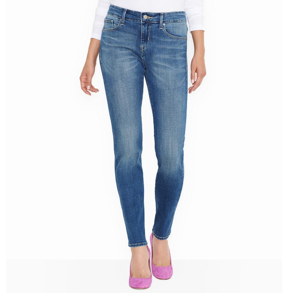 LEVI'S Women's Mid Rise Skinny Jeans, Long Length 4/L