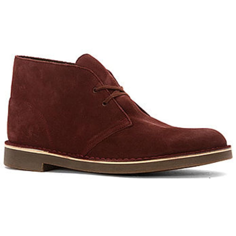 CLARKS Men's Bushacre Bredeaux Suede Chukka Ankle Boots - WINE/MAROON