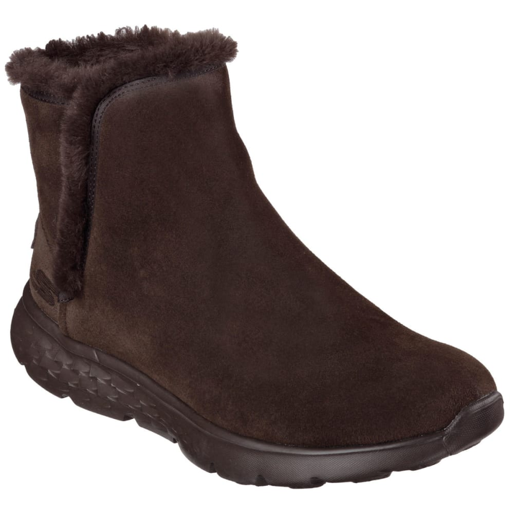 SKECHERS Women's On the Go – Chugga Boots - CHOCOLATE