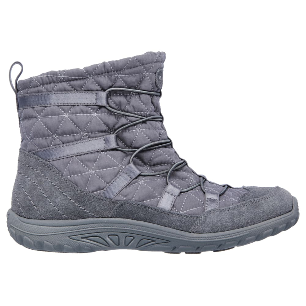 SKECHERS Women's Modern Comfy Reggae Fest Bungee Boots - CHARCOAL