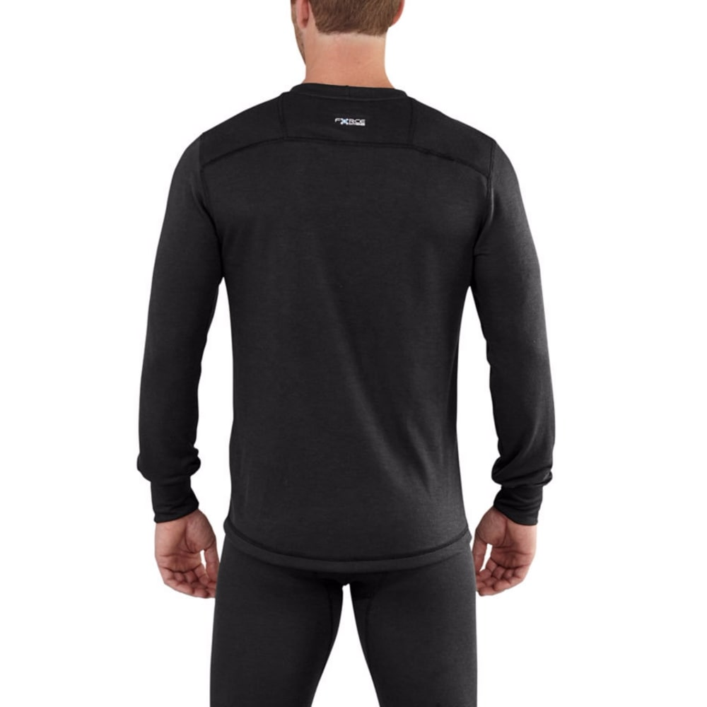 CARHARTT Men's Base Force Extremes Cold Weather Crewneck Shirt - BLACK 001