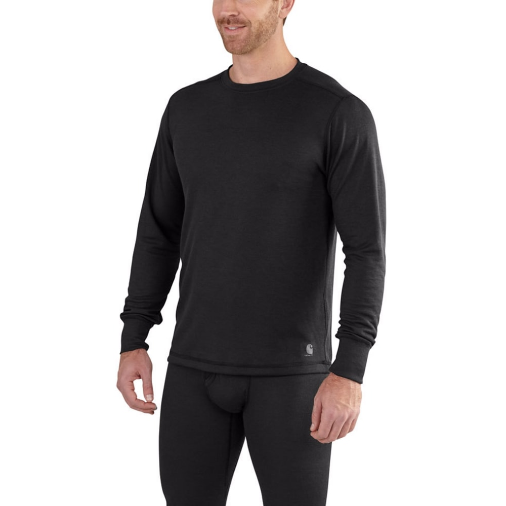 Carhartt Men's Base Force Extremes Cold Weather Crewneck Shirt - Black, M