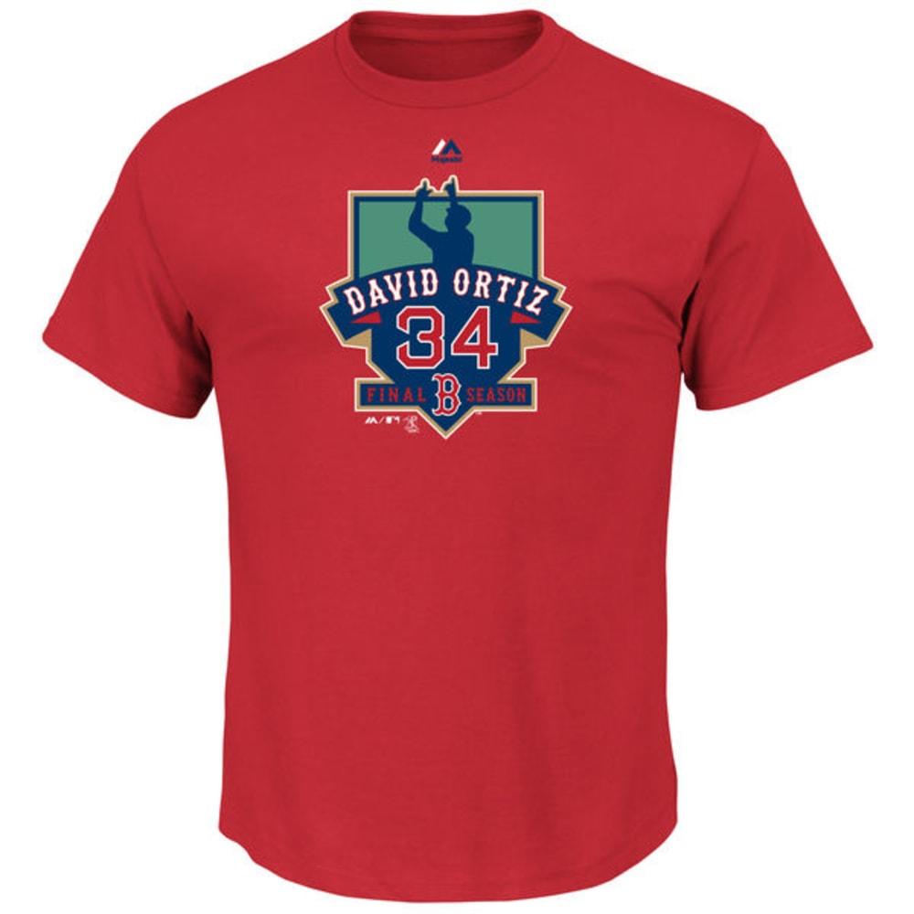 BOSTON RED SOX David Ortiz Retirement Short-Sleeve Tee - RED