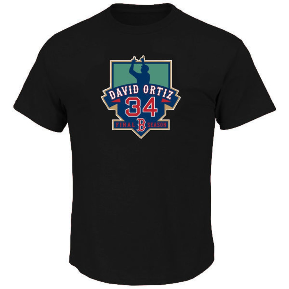 BOSTON RED SOX David Ortiz Retirement Short-Sleeve Tee - BLACK