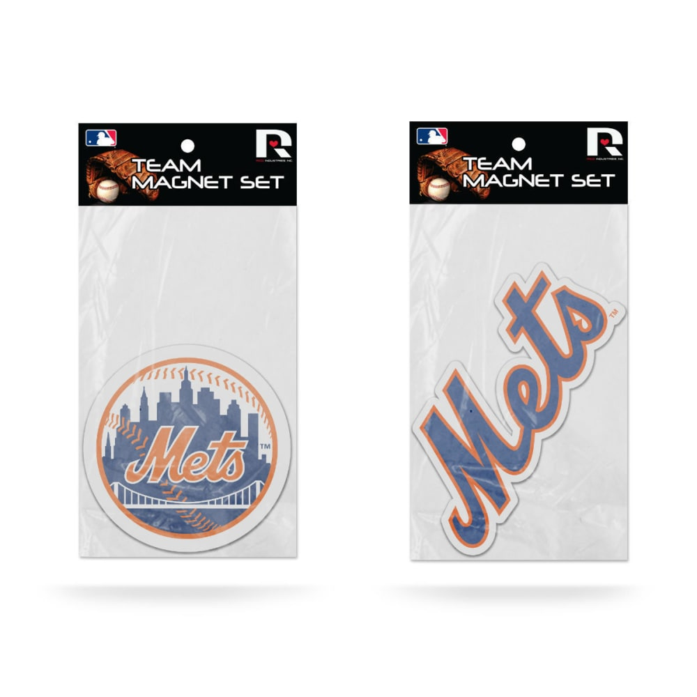NEW YORK METS Magnet Set, 2 Pack ONE SIZE