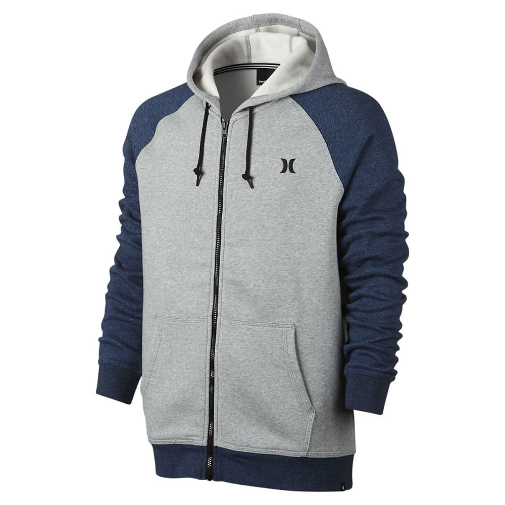 HURLEY Guys' Getaway 2.0 Fleece Full-Zip Hoodie - PURE PLATINUM-04Z