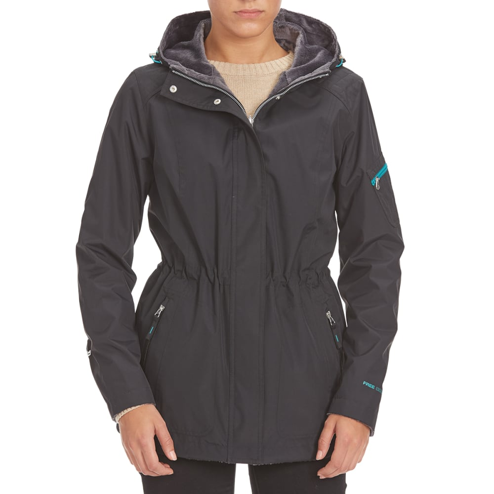 FREE COUNTRY Women's Radiance Anorak Jacket - BLACK