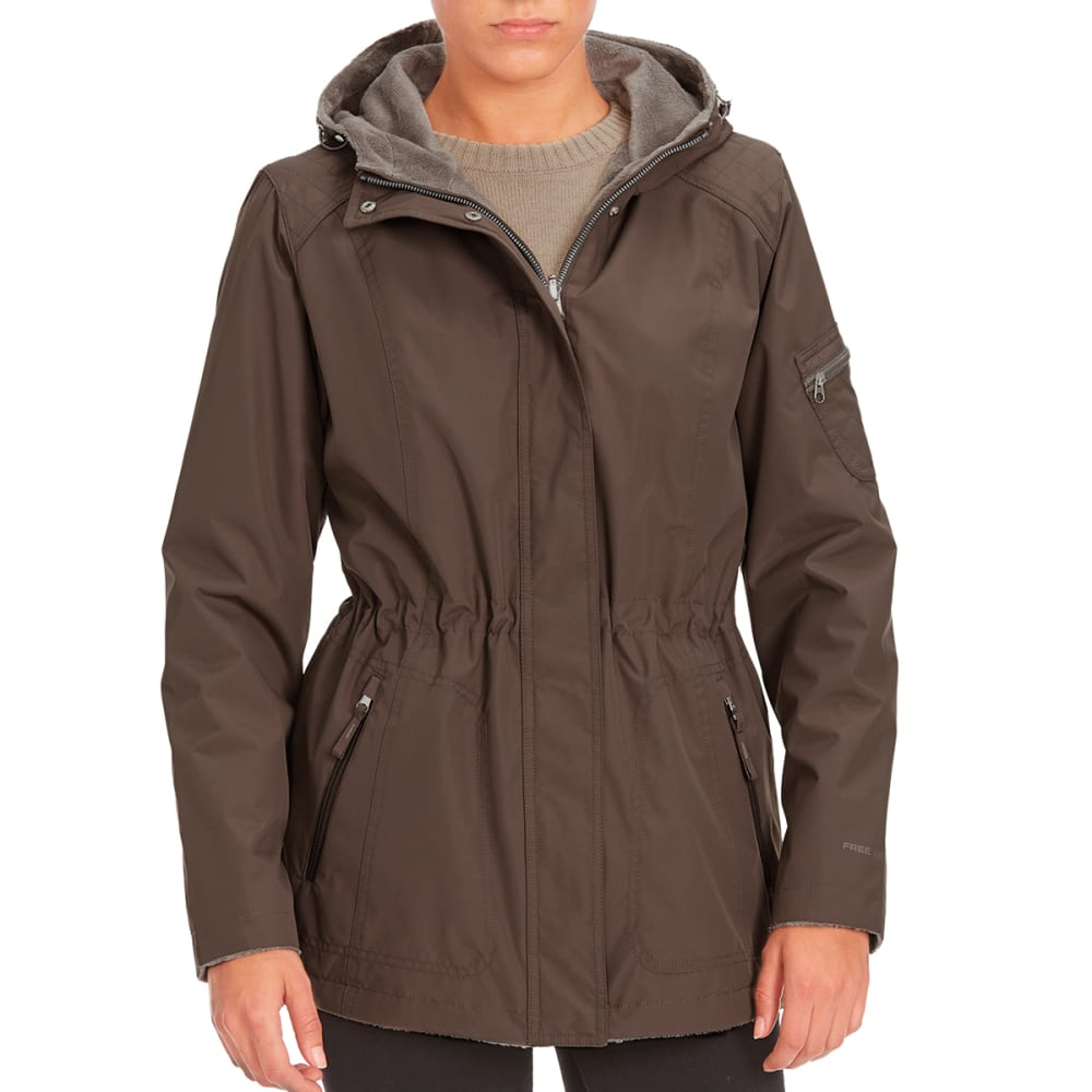 FREE COUNTRY Women's Radiance Anorak Jacket - FOSSIL