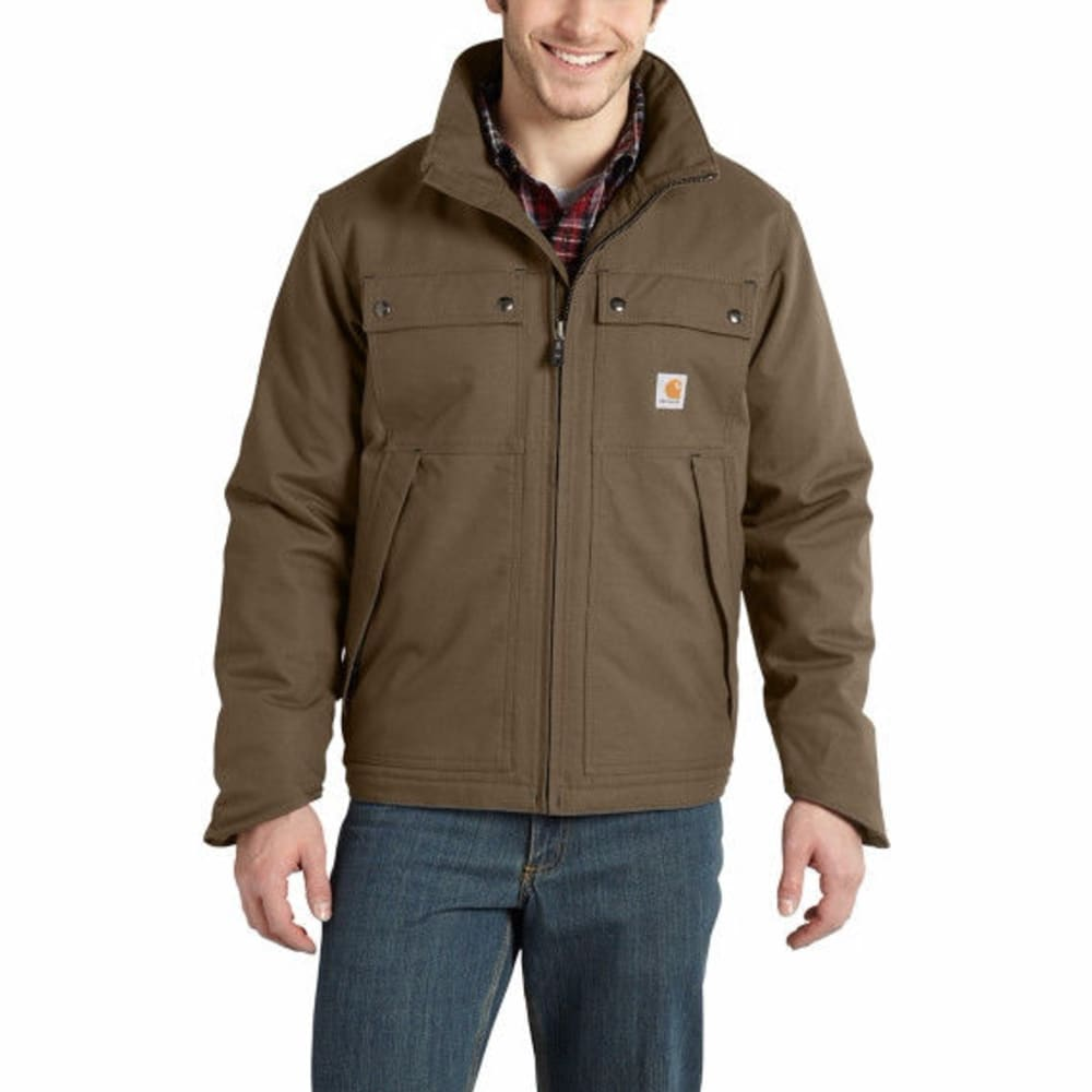 Carhartt Men's Quick Duck(R) Jefferson Traditional Jacket - Brown, M