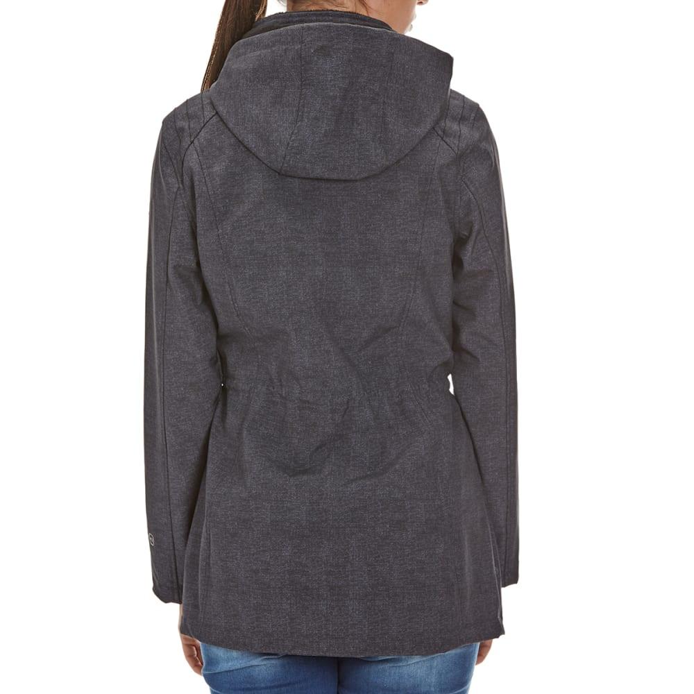 FREE COUNTRY Women's Long Anorak Softshell Jacket - BLACK
