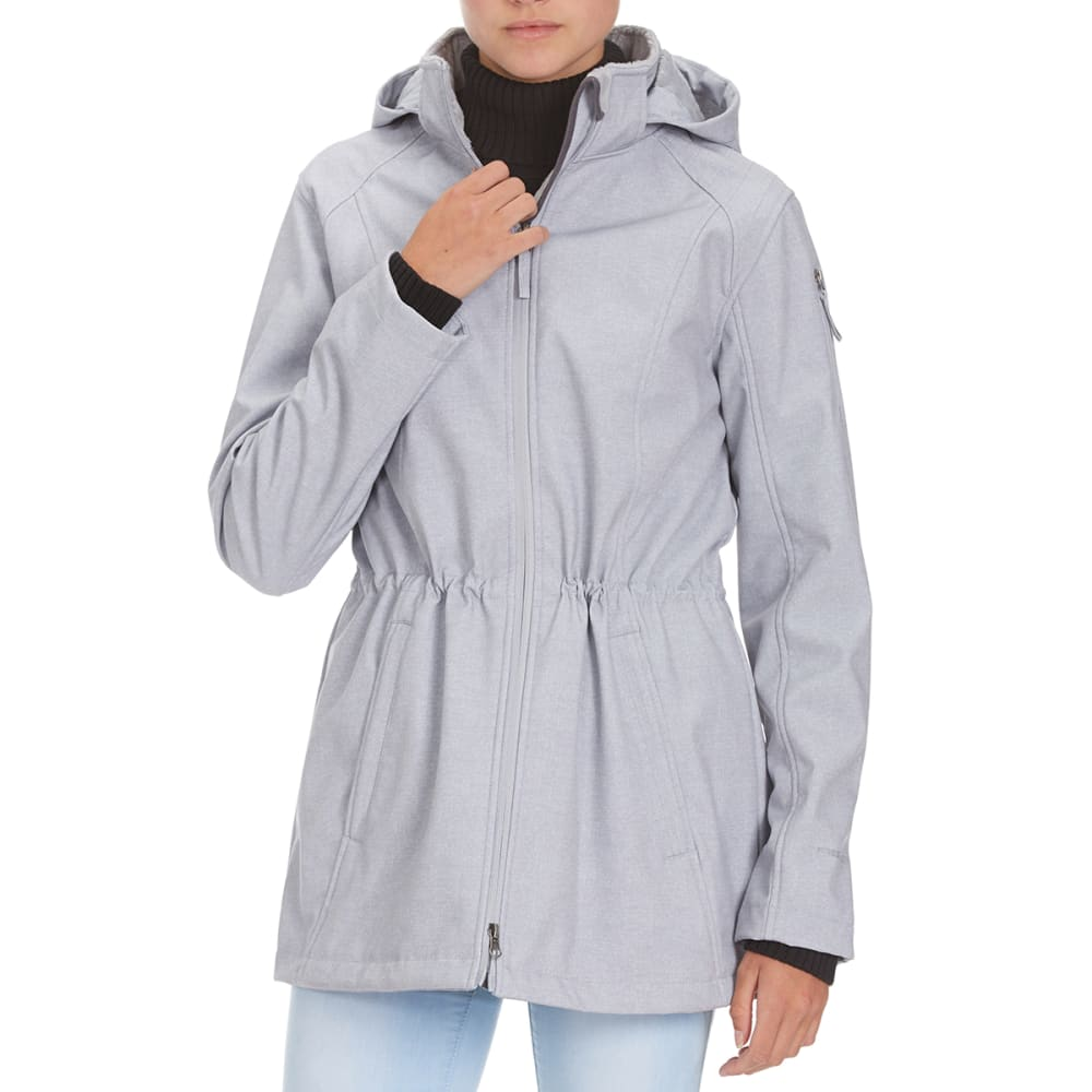 FREE COUNTRY Women's Long Anorak Printed Softshell Jacket - WINTER SILVER PRINT