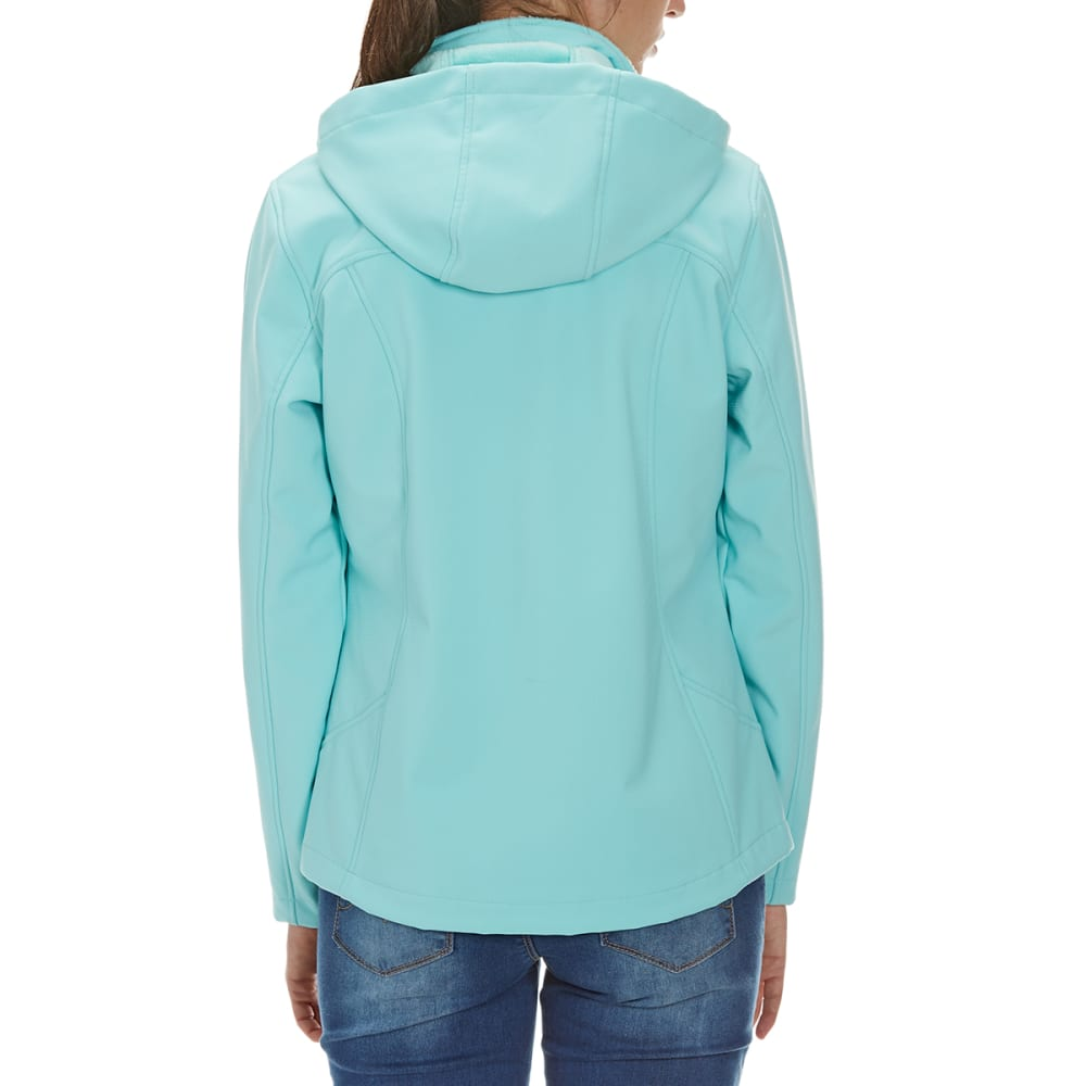FREE COUNTRY Women's Short Hooded Softshell Jacket - AQUA HAZE
