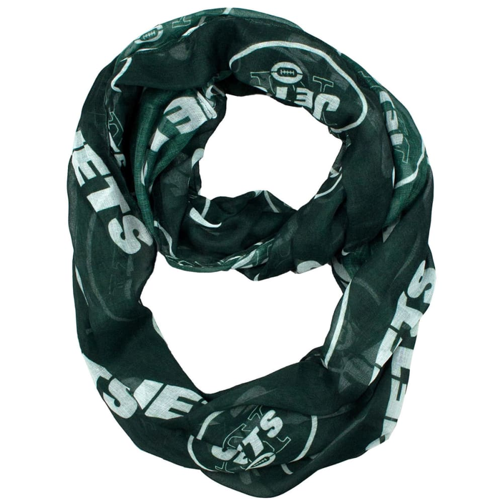 NEW YORK JETS Women's Infinity Scarf - WHITE