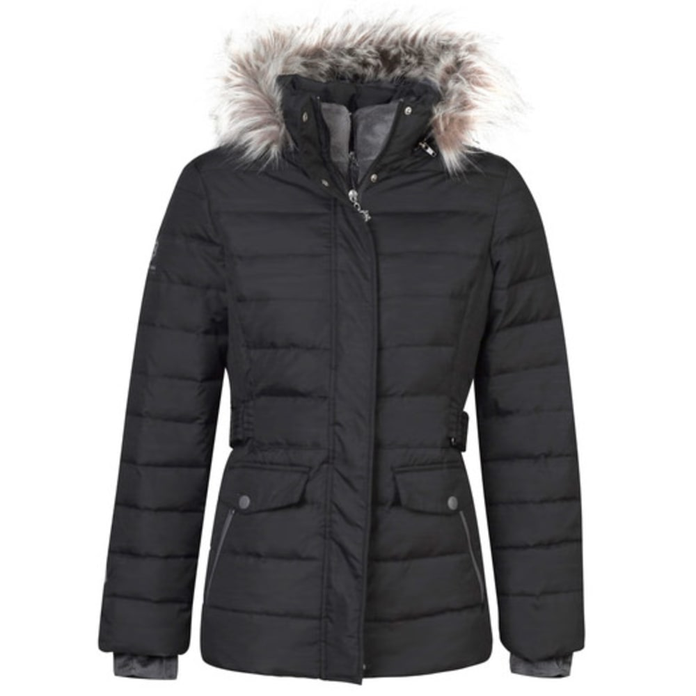 FREE COUNTRY Women's Solid Down Puffer Jacket - BLACK