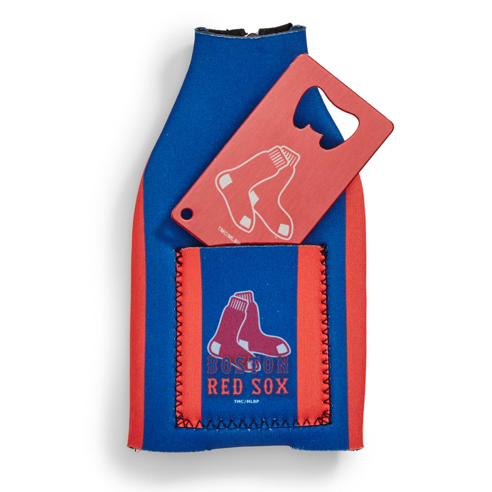 BOSTON RED SOX Koozie with Bottle Opener - ASSORTED