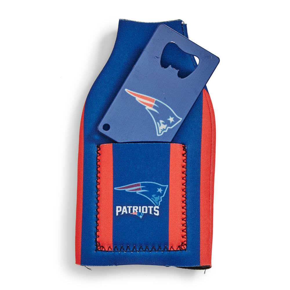 NEW ENGLAND PATRIOTS Koozie with Bottle Opener - ASSORTED