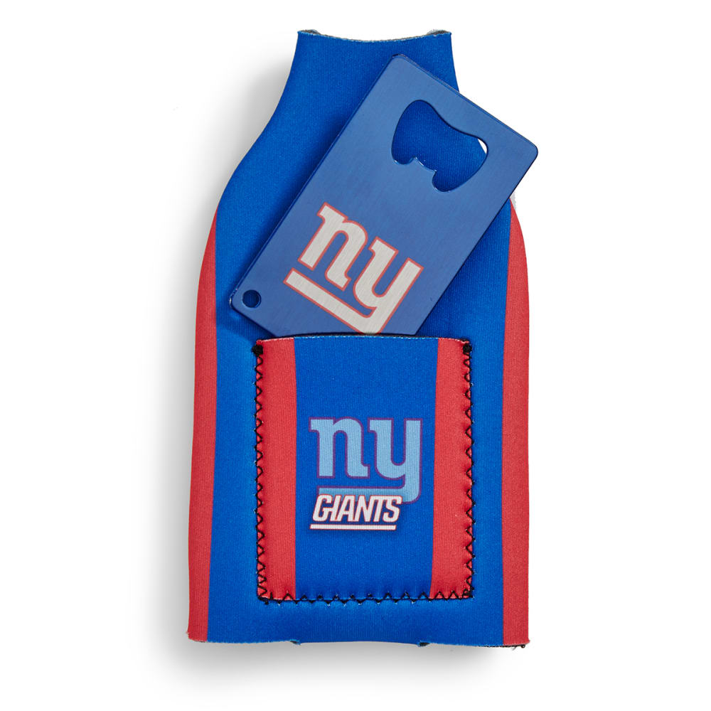NEW YORK GIANTS Koozie with Bottle Opener - ASSORTED