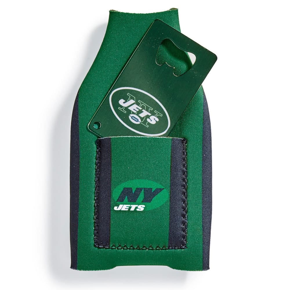 NEW YORK JETS Koozie with Bottle Opener - ASSORTED