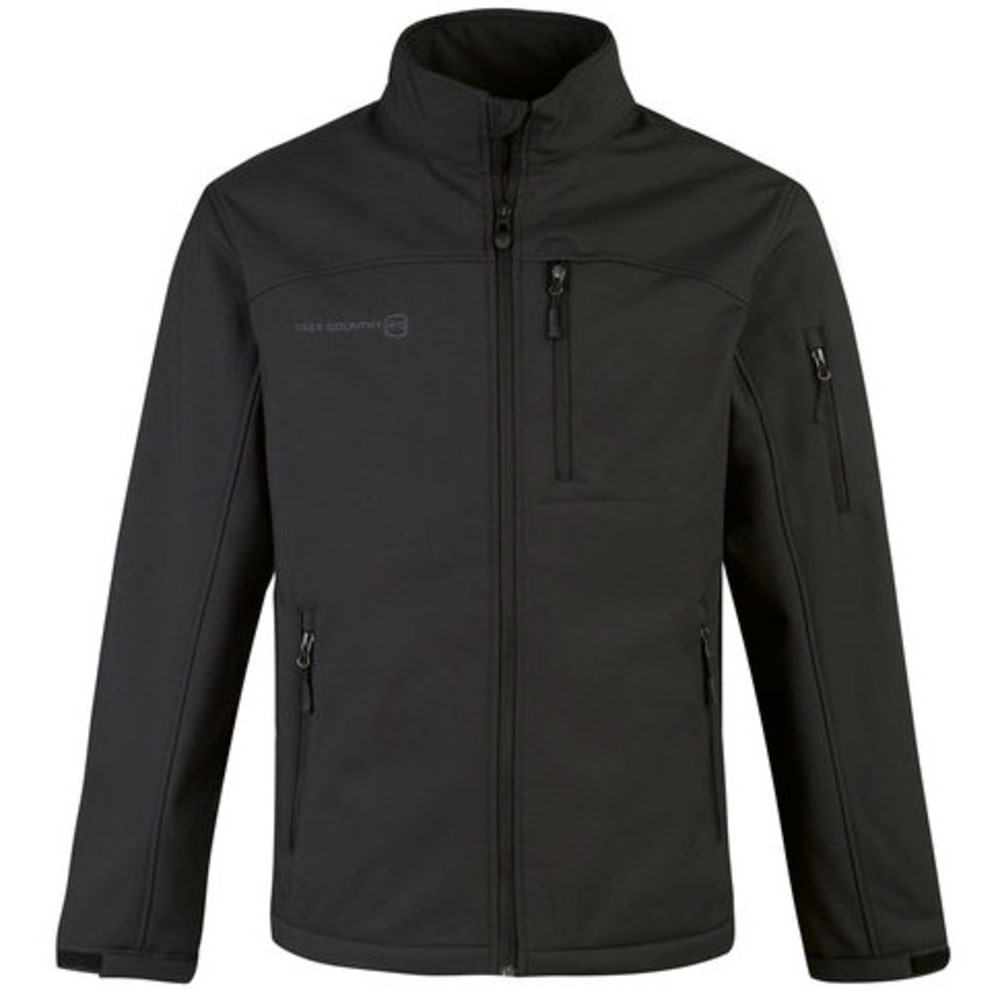 FREE COUNTRY Men's Solid Soft Shell Jacket - BLACK