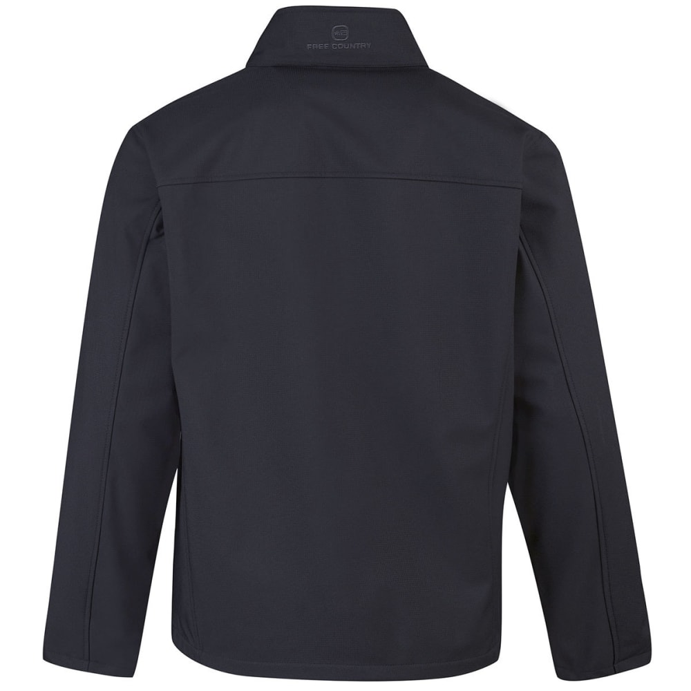 FREE COUNTRY Men's Tonal Print Soft Shell Jacket - CHARCOAL