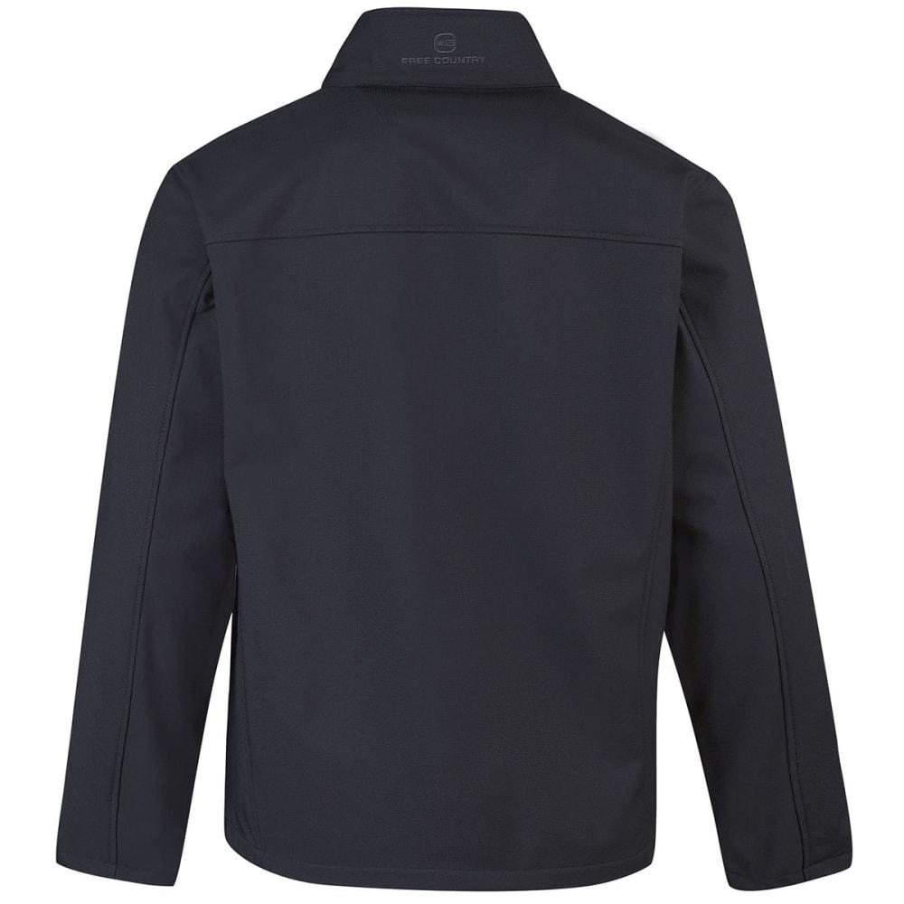 FREE COUNTRY Men's Tonal Print Soft Shell Jacket - CHARCOAL
