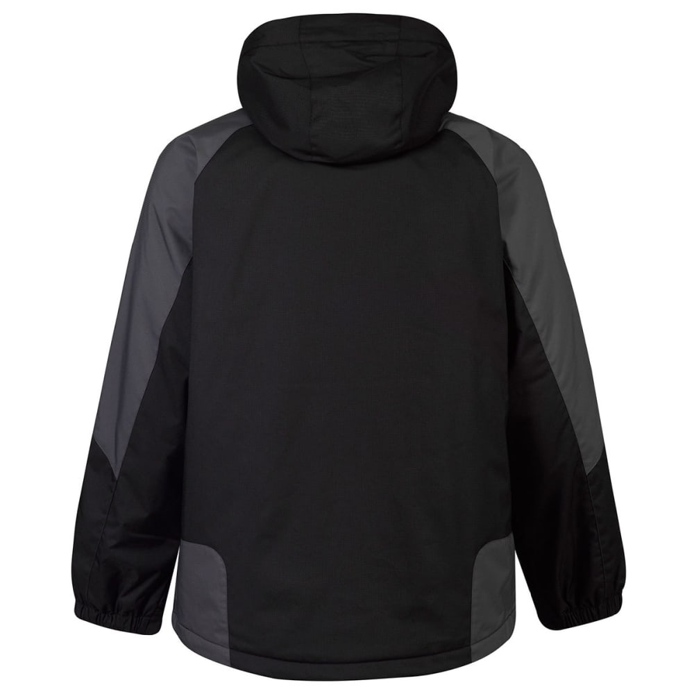 FREE COUNTRY Men's Color-Blocked Cubic Dobby Mid-Weight Jacket - BLACK