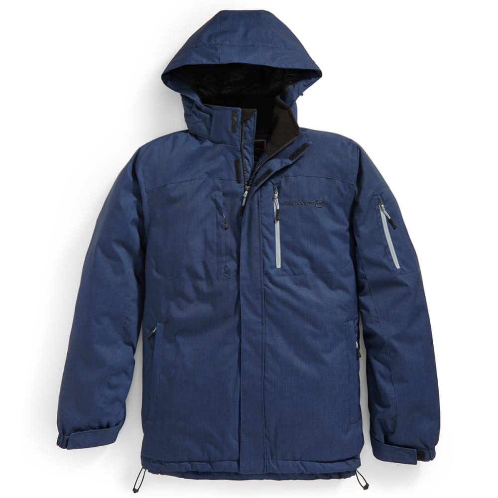 FREE COUNTRY Men's Cubic Dobby Mid-Weight Jacket - NAVY