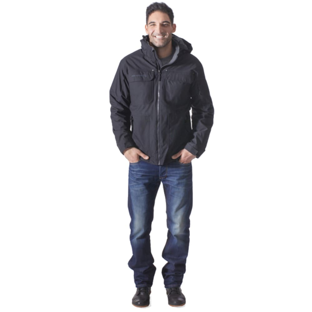 FREE COUNTRY Men's Mid-Weight Poly Canvas Four-Pocket Jacket - OLIVE GREEN