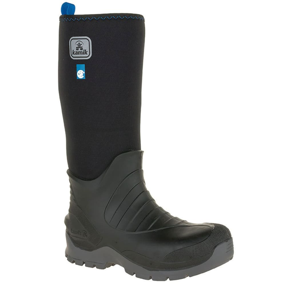 KAMIK Men's Barrel Insulated Waterproof Composite Toe Work Boots - BLACK