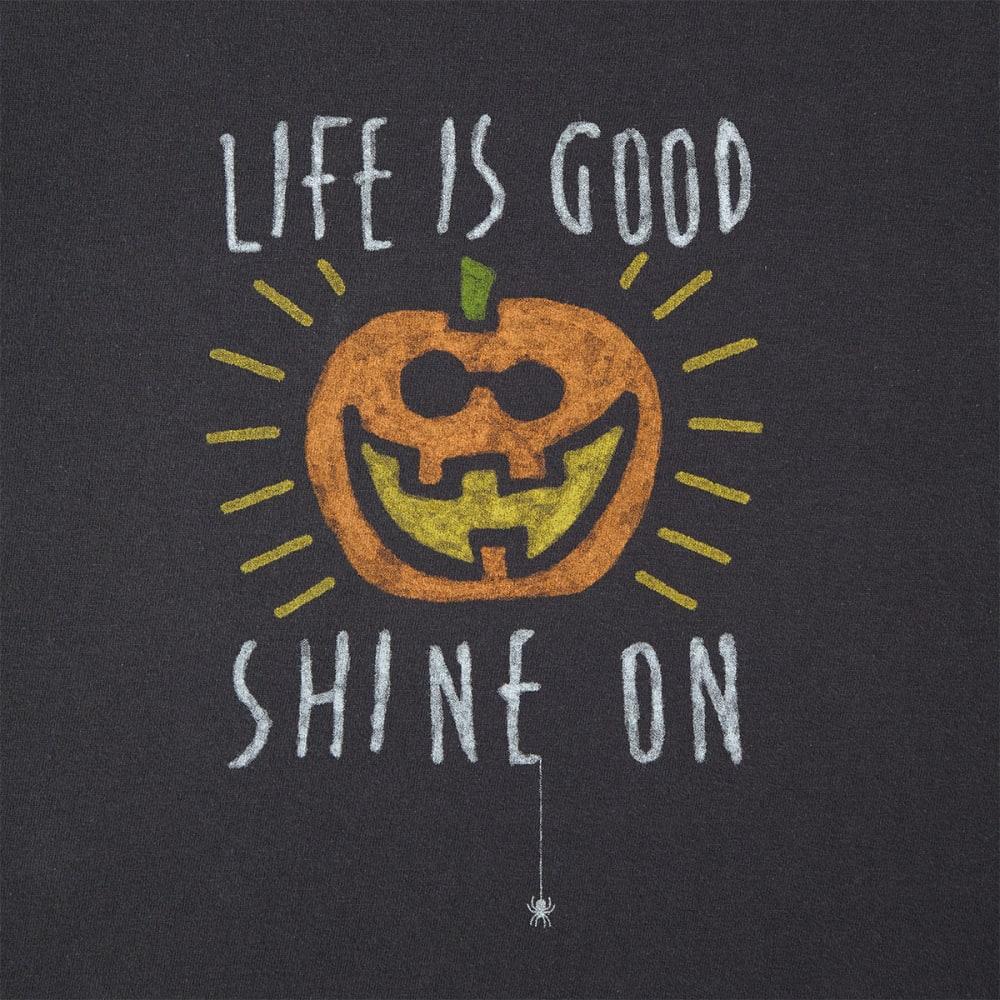 LIFE IS GOOD Women's Halloween Shine On Long Sleeve Crusher Tee - NIGHT BLACK