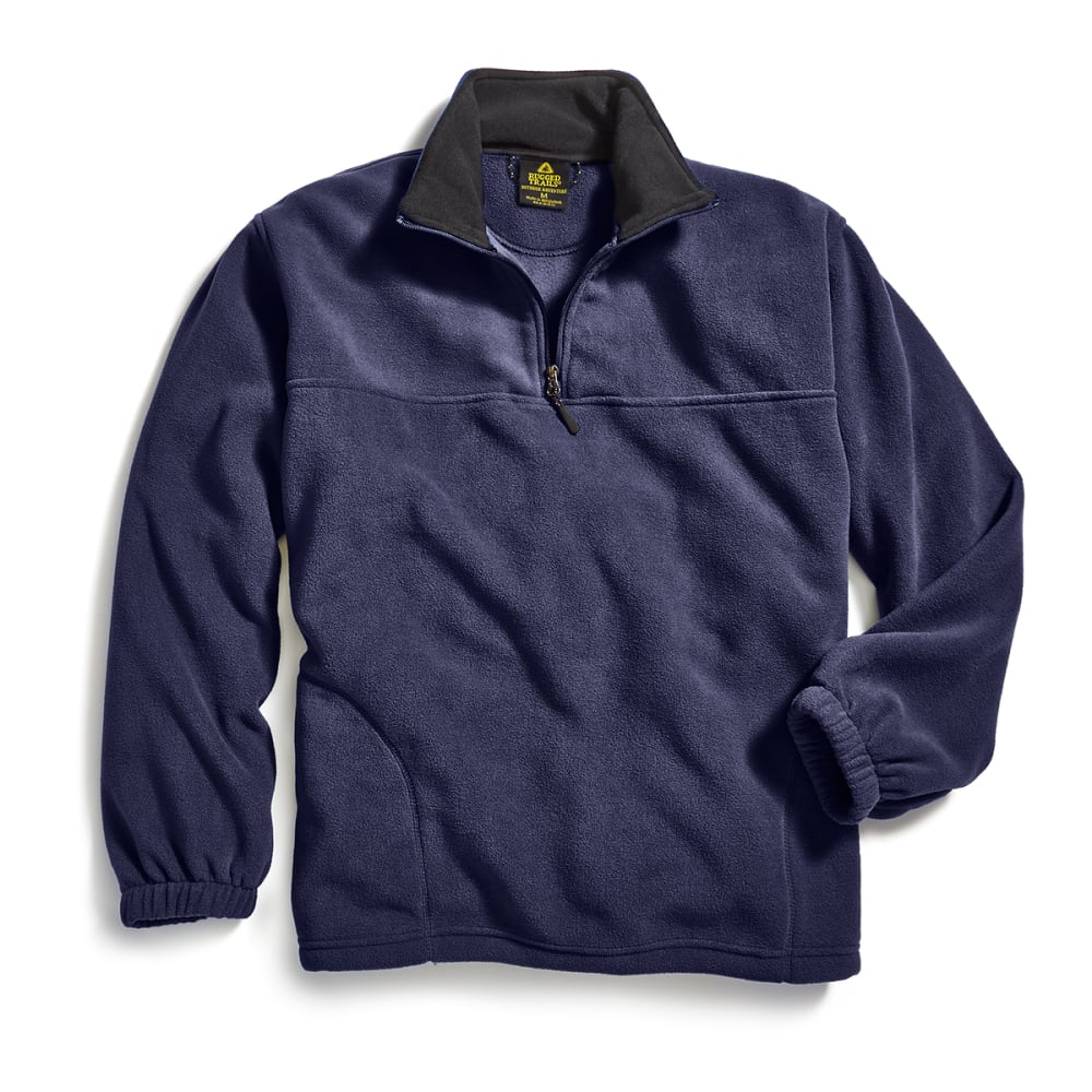 RUGGED TRAILS Men's ¼ Zip Storm Fleece - NAVY