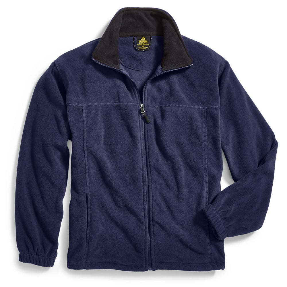 RUGGED TRAILS Men's Full-Zip Storm Fleece - NAVY