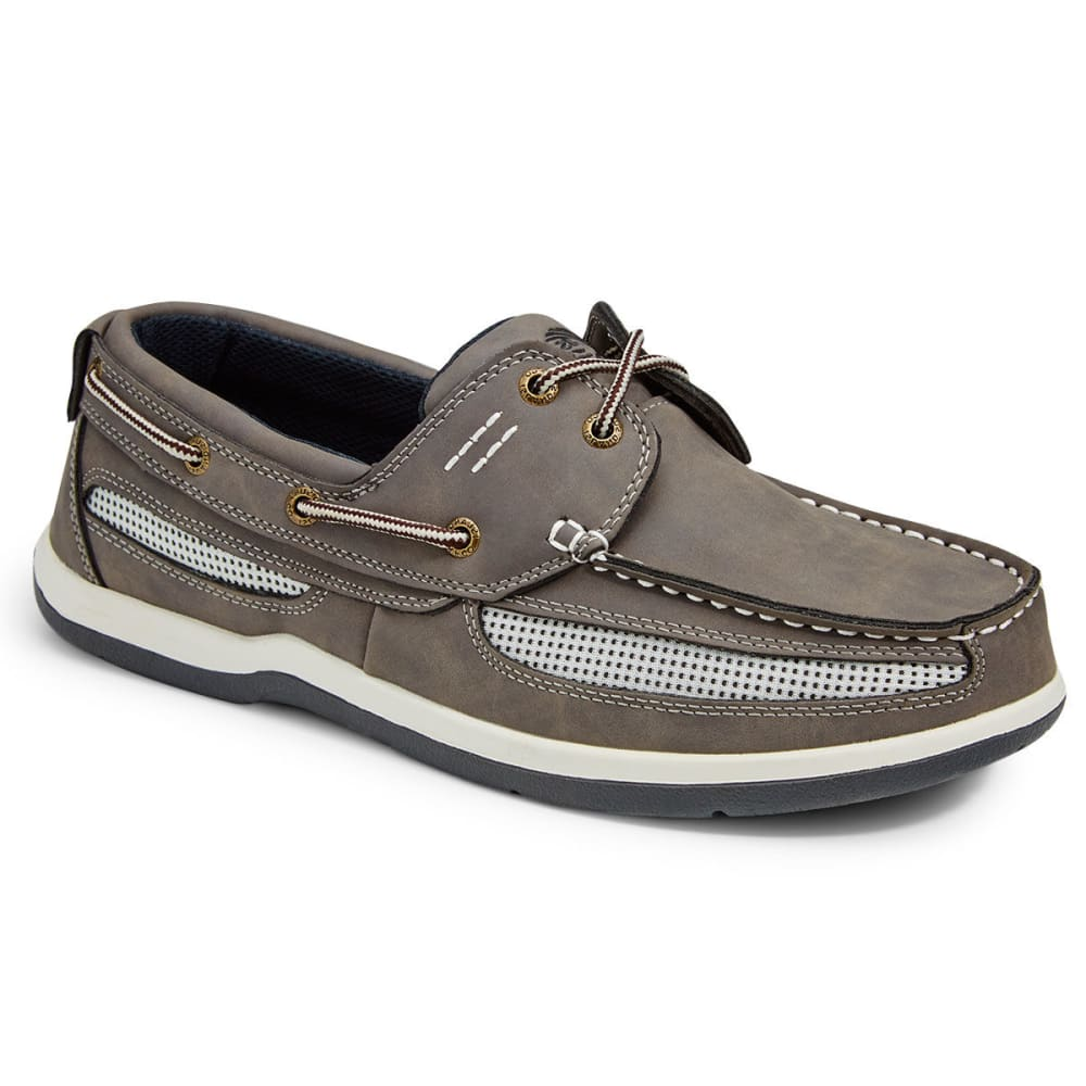 ISLAND SURF COMPANY Men's Cod Boat Shoes - GREY