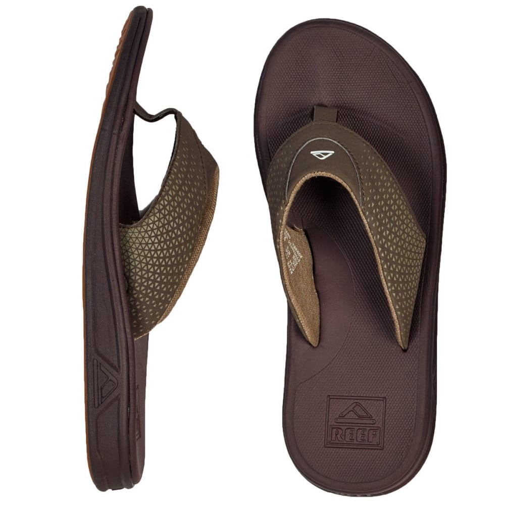 REEF Men's Rover Flip Flops - BROWN-BRO