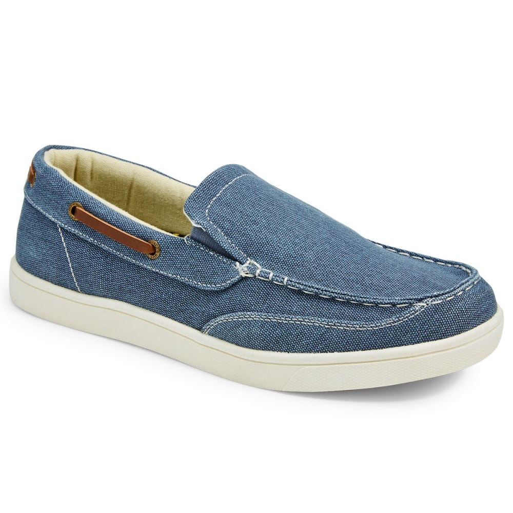 ISLAND SURF COMPANY Men's Vineyard Canvas Slip-On Shoes - NAVY
